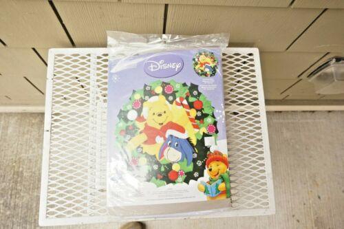 NEW Disney Winnie The Pooh Eeyore Felt Applique Christmas Janlynn Sequin Kit