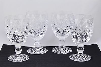 """SET OF 4 WATERFORD CRYSTAL DONEGAL 4-3/4"""" CLARET WINE GLASSES #1 - MINT"""