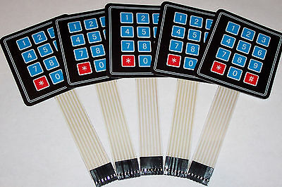 5 Pcs 4x3 Matrix Array 12 Key Membrane Switch Keypadarduinoavrpic Usa Ship