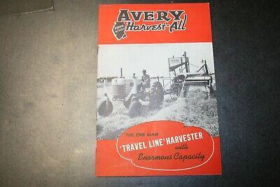 Avery Harvest-all Informational Manual Form 5342-15m Rev 12-38