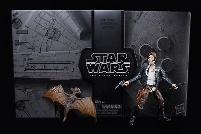 SDCC 2018 EXCLUSIVE STAR WARS BLACK SERIES HAN SOLO EXOGORTH ESCAPE MYNOCK MIB