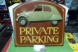 D coration tableau en relief en bois citro n 2cv private parking country corn - Tableau country corner ...