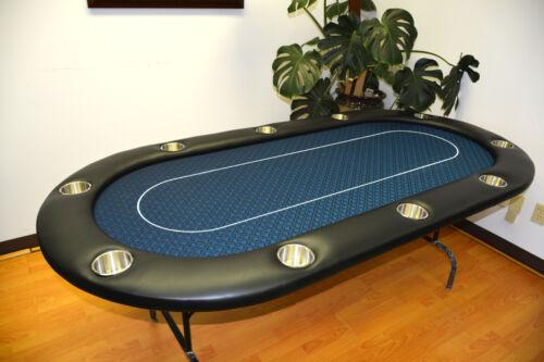 "MRC 10 Players 96"" Folding Legs Midnight Blue Color Poker Table C 40-96"
