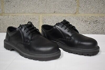 Bacou Black Leather Safety Toe Cap Shoes - Work Boots - PPE - Size UK 7 - EN 345 Black Safety Toe Boot