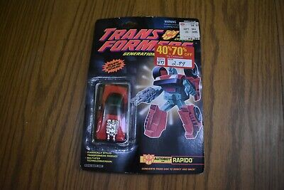 RARE NEW VINAGE 90's Transformers G2 Autobot Car: Rapido 1992 MOC