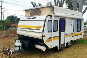 1988 15.6ft VISCOUNT SEABREEZE CARAVAN, ISLAND BED, finance available Deception Bay Caboolture Area Preview