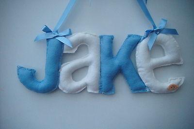 Personalised  door fabric  letters baby name  nursery girl boy christening gift
