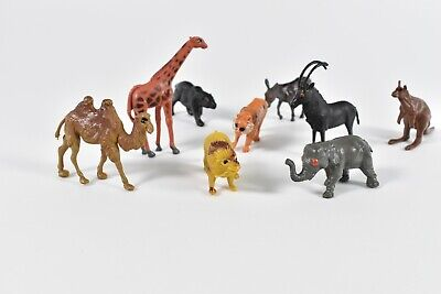Lot of Vintage Circus Safari Wild Game Hand Painted Animals Hong Kong Lion Tiger