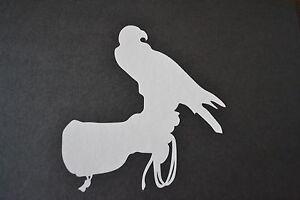 BIRD OF PREY ON GLOVE EAGLE HARRIS HAWK OSPREY HUNTING FALCONRY STICKER DECAL