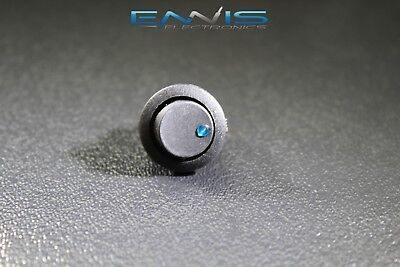 Round On Off Rocker Switch Mini Toggle Blue Led 34 Mount Hole Ec-1213bl