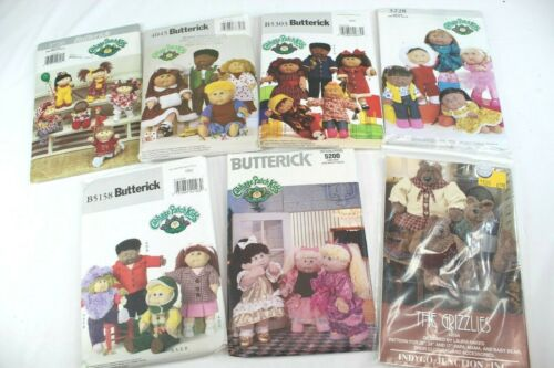Butterick Cabbage Patch Kids Clothes Patterns Lot Of 6 Plus 1 The Grizzlies