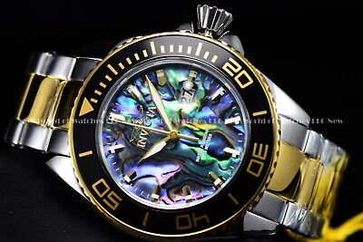 e1d6514f5 Invicta Men's 48mm Pro Diver Abalone Dial Two Tone Quartz Screw down Crown  Watch