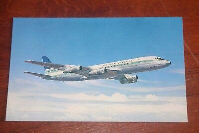 Airline Aviation old postcard Air New Zealand DC8 Jetliner