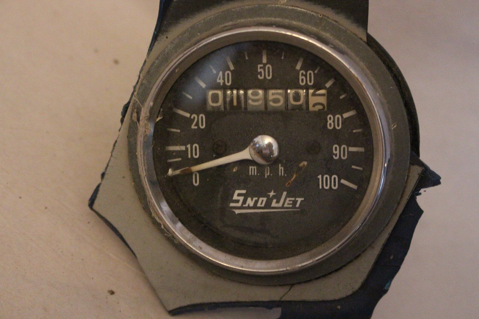 Vintage OEM Sno Jet Speedometer Sled Snowmobile Part Thunder Jet Dash Cluster