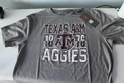 Image One Mens Gray NCAA College Short Sleeve T-shirt Texas A&M Aggies Large - Ncaa College T-shirts