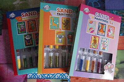 Craft Universe - Sandbilder Bastelset für Kinder mit Glitzersand Multicolour