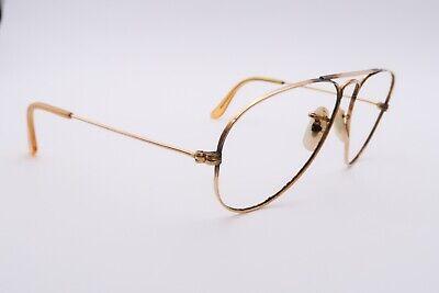 Vtg B&L RAY BAN Aviator Sunglasses FRAMES Gold 50mm 10K GF Kids (Ray Ban Aviator 50mm)