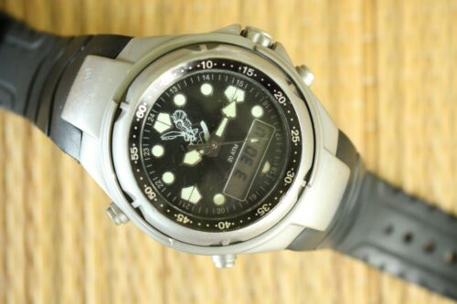 OUTSTANDING ISSUED INSCRIBED ADI IDF ANA-DIGI 20ATM CHRONOGRAPH WATCH + BOX SET