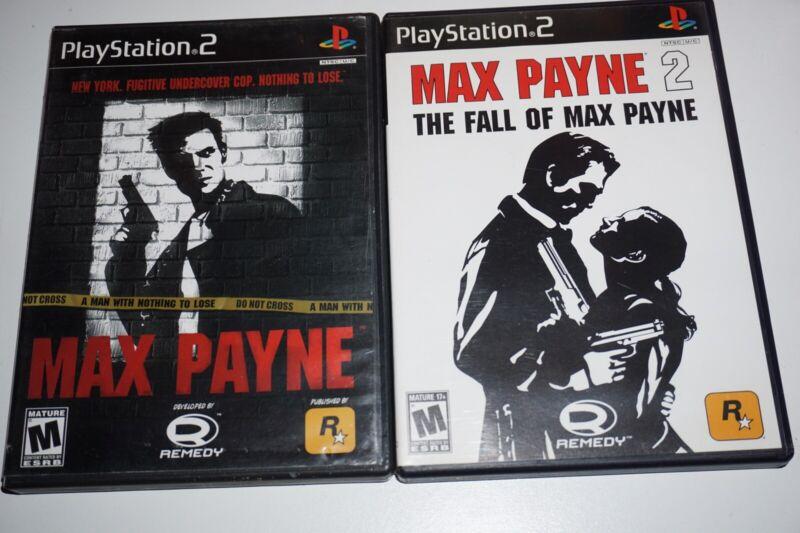 Max Payne 1 Y 2 Sony Playstation 2 Ps2 Completa Ebay