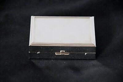 5 tlg. Premium Set Kontaktlinsen Behälter Box Etui - Silber Kontaktlinsen