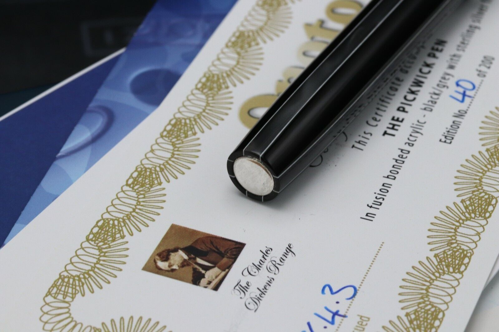 Onoto Magna Charles Dickens Pickwick Limited Edition Fountain Pen - UNUSED 6