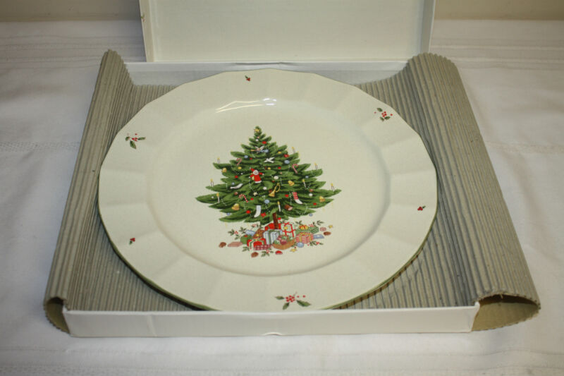 "Studio Nova Holiday Season NY102 Chop/Cake Plate Platter 12"" w/Box"