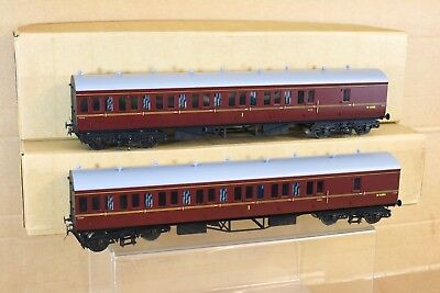 TOWER MODELS SANCHENG O GAUGE BR GWR MAROON B COACH SET W6885 W6886 BOXED nr for sale  Shipping to Ireland