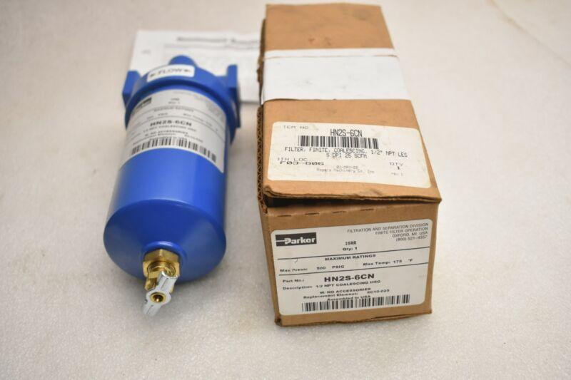 PARKER HANNIFIN HN2S-6CN 1/2 NPT COALESCING FINITE FILTER HSG 500 PSI 175 DEG. F