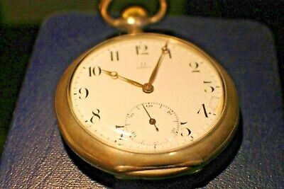VINTAGE OMEGA POCKET WATCH 800 SILVER GRAND PRIX PARIS 1900
