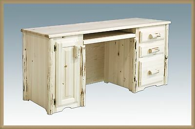 Log Office Desk Amish Made Log Cabin Furniture Solid Wood Desks for Home Office
