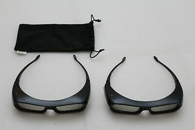 Sony 3D Glasses TDG-BR250 Lot of 2 With One Drawstring Case
