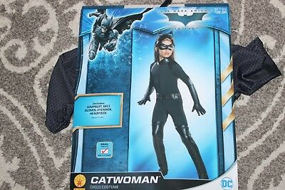 NWT Rubies DC Comics CATWOMAN Girls Halloween Costume 5pc Set Small 4/6 Age 3/4 (Halloween Costumes For Girls Age 4)