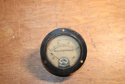 Vintage Jewell Electrical Ammeter Dc Milliamperes Scale 0-30 Steampunk Model 54