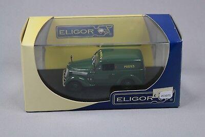ZC1071 Eligor 100948 Voiture Miniature 1/43 Renault Juvaquatre Tolee Postes Vert