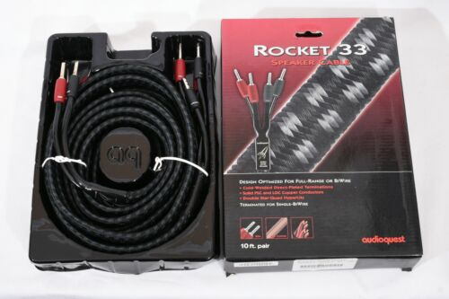 AudioQuest Rocket 33 10 ft pair (2 bi wire speaker cables)  w/ Banana Terminals