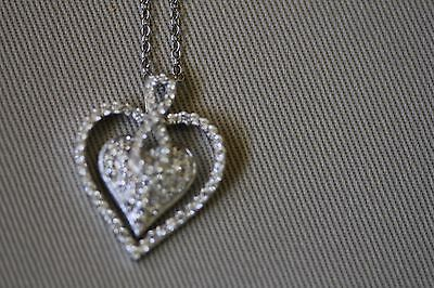 Beautiful Heart Shaped Necklace With Figure 8 Bale. - $40.00