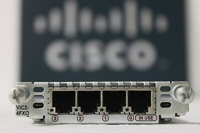 GENUINE Cisco VIC2-4FXO 4-Port Voice Interface Card for Routers w-Hologram