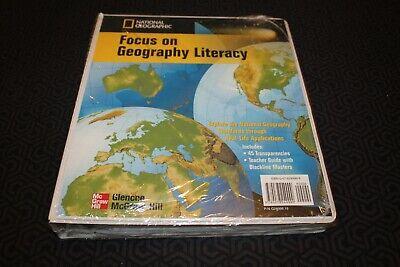 National Geographic Focus on Geography Glencoe McGraw-Hill Teacher Binder New