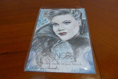 OUAT Trading Cards: Evil Queen RARE and AUTHENTIC Sketch card by Carolyn - Evil Queen Ouat