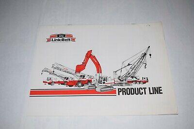 1990 Link-belt Construction Equipment Product Line Sales Brochure