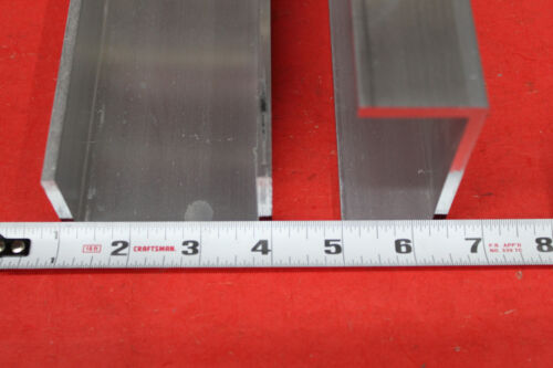 """2 Pieces 3"""" x 1-1/2"""" x 3/16"""" Wall 6061 T6 ALUMINUM CHANNEL 48"""" long Mill Stock"""