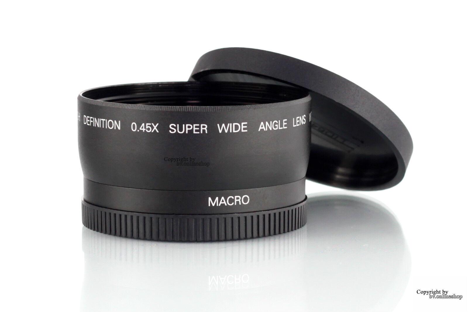 Objektiv Weitwinkel + Makro Canon EOS EF-S 18-55mm 58mm 60D 600D 650D 1200D DSLR