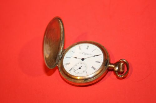 1904 ELGIN  Model 2 Grade 267 , 0 Size 15J GOLD CASE - NOT WORKING