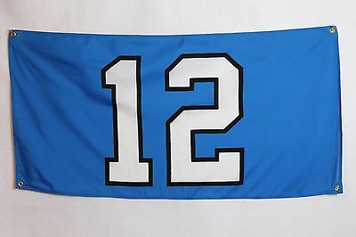 Seattle Seahawks 12th MAN Banner Flag Boom