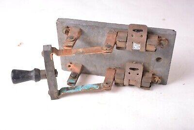 Vintage 250v 30 Amp Knife Switch Slate Base 2 Blade Fused-trumbull