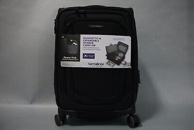 "SAMSONITE SILHOUETTE 16 EXPANDABLE CARRY ON SPINNER LUGGAGE BAG 22"" -BLACK"