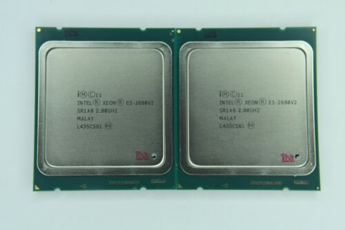 Matched Pair of Intel Xeon E5-2680 V2 3.6GHz Ten Core SR1A6 Processor w/Grease