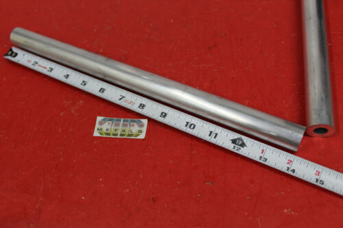 """2 Pieces 1"""" OD x 1/4"""" Wall 6061 T6 ALUMINUM Round Tube 14"""" long 1/2"""" ID Seamless"""