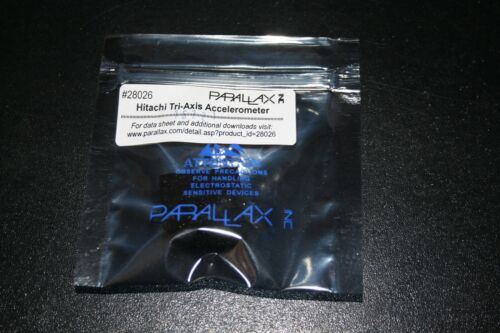 Parallax 28026 Hitachi Tri-Axis Accelerometer New
