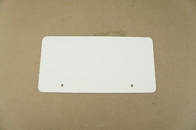 10 Pack Blank 8mil White No-tear Synthetic Waterproof License Plate 6 X 12